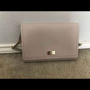 Small, nude Kate Spade shoulder bag